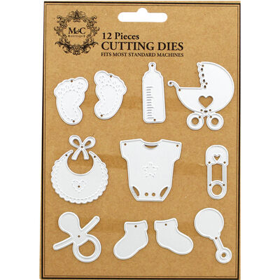 Baby Themed 12 Piece Metal Cutting Die Set image number 1
