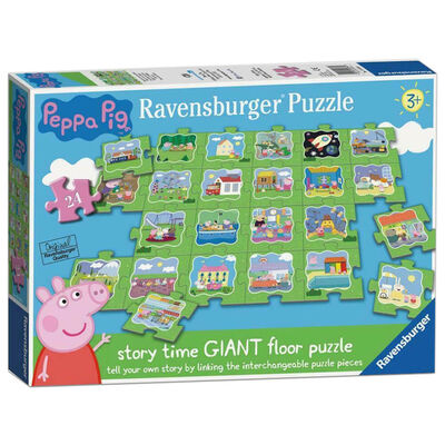 Peppa Pig Tell a Story 24 Piece Giant Floor Jigsaw Puzzle image number 1