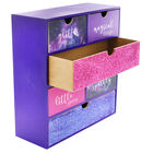 Purple Glitter Wooden 6 Drawer Storage Set image number 3