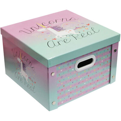Unicorns are Real Collapsible Storage Box image number 1