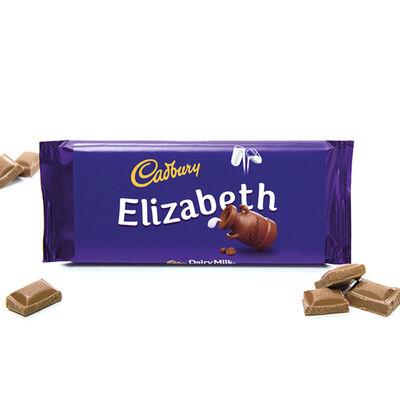 Cadbury Dairy Milk Chocolate Bar 110g - Elizabeth image number 2
