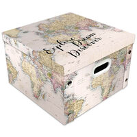 Explore Dream Discover Collapsible Storage Box