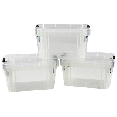 0.2L Stackable Storage Boxes - Set of 3 image number 2