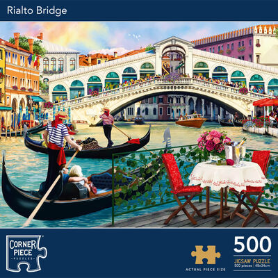 Rialto Bridge 500 Piece Jigsaw Puzzle image number 1
