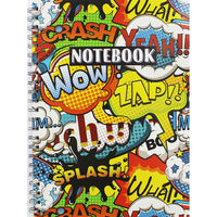 A4 Wiro Comic Graphic Lined Notebook