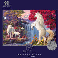 Unicorn Falls 1000 Piece Silver-Foiled Premium Jigsaw Puzzle