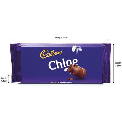 Cadbury Dairy Milk Chocolate Bar 110g - Chloe image number 3