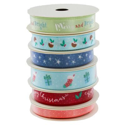At Home with Santa 1m Ribbons - 6 Pack image number 3