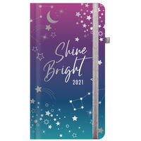 Cosmic Shine Bright 2021 Slim Week to View Pocket Diary