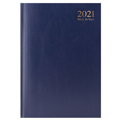 A5 Blue 2021 Week To View Diary image number 1