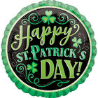 18 Inch Happy St Patricks Day Foil Helium Balloon image number 1