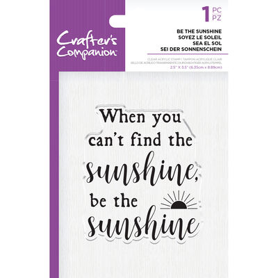 Crafters Companion Clear Acrylic Stamp - Be the Sunshine image number 1