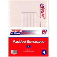 Medium Padded Envelopes Pack of 4