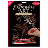 A4 Engraving Art Set: Hummingbird
