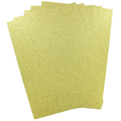 A4 Glitter Card Gold 300gsm 10 Sheets image number 2