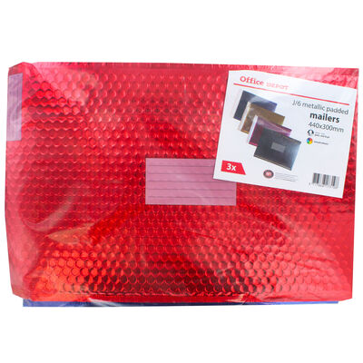Extra Large Metallic Bubble Padded Mailer Envelope - Pack of 3 image number 1