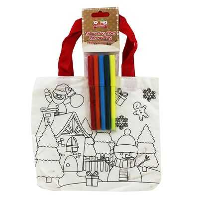 Colour Your Own Christmas Bag - Assorted