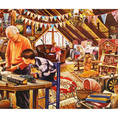 Attic Playtime 1000 Piece Jigsaw Puzzle image number 2
