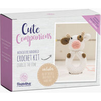 Cute Companions Miniature Handheld Crochet Kit - Charlie the Cow