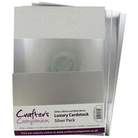Crafters Companion A4 Luxury Cardstock Pack - Silver