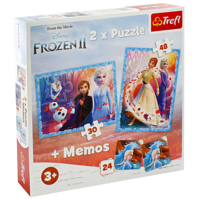 Disney Frozen 2 2-in-1 Jigsaw Puzzle Set image number 1