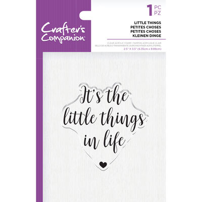 Crafters Companion Clear Acrylic Stamp - Little Things image number 1