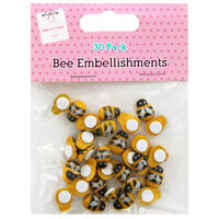 Bee Embellishments: Pack of 30