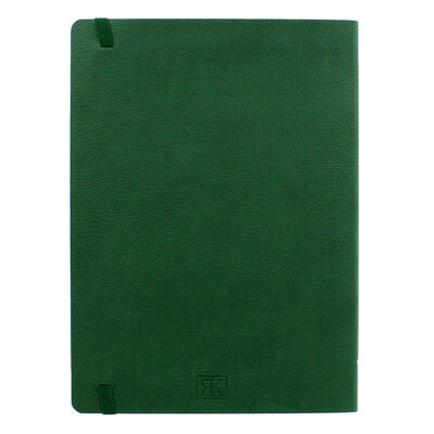 A5 Green Top Dog Motif Textured Journal image number 3