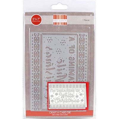 White Christmas Craft A Card Metal Cutting Die image number 1