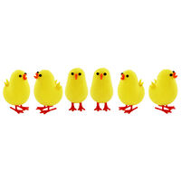 Yellow Easter Chicks - 6 Pack