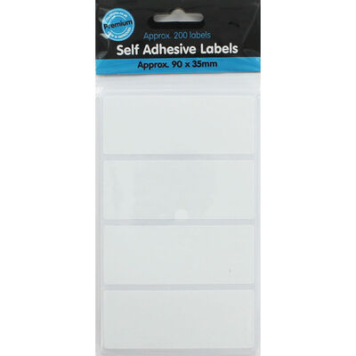 Self Adhesive White Labels - Pack Of 200 image number 1