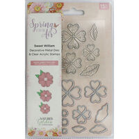 Crafters Companion Spring is in the Air Stamp and Die - Sweet William