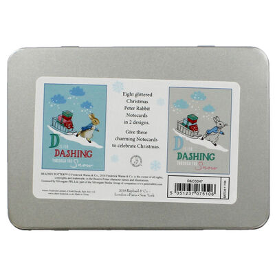 8 Christmas Cards in Tin - Peter Rabbit image number 4