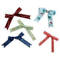 At Home with Santa Ribbon Bows - 12 Pack