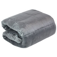 Grey Super-Soft Velvet Touch Weighted Blanket 150 x 200cm - 11.3kg