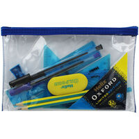 Helix Oxford Limited Edition Filled Pencil Case - Blue
