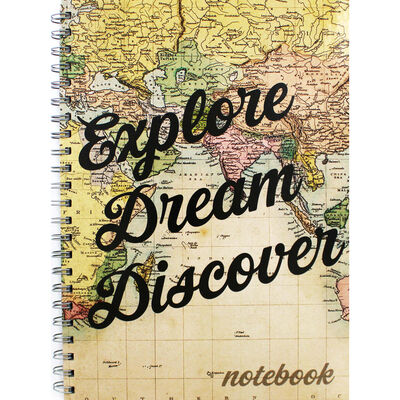 A4 Wiro Explore Dream Discover Lined Notebook image number 1