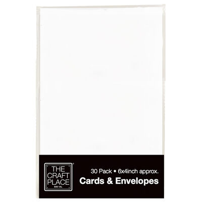 30 White Greeting Cards - 6 x 4 Inches image number 1