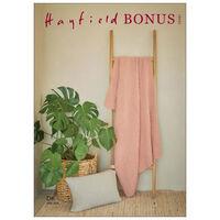 Hayfield Bonus DK: Textured Stripe Stitch Blanket & Cushion Knitting Pattern 10261