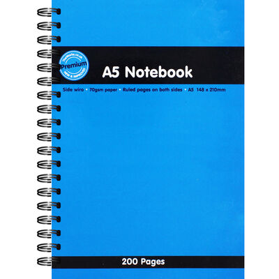 A5 Spiral Bound Lined Notebook image number 1