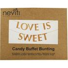 Love is Sweet Kraft Buffet Bunting image number 1