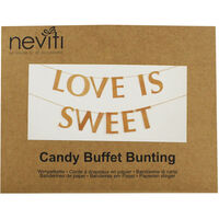 Love is Sweet Kraft Buffet Bunting