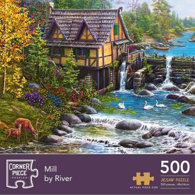 Mill by the River 500 Piece Jigsaw Puzzle image number 1