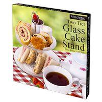 2 Tier Glass Cake Stand