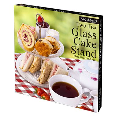 2 Tier Glass Cake Stand image number 2