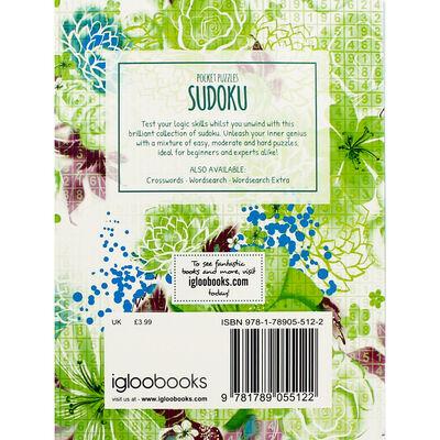 Pocket Puzzles Green Floral Sudoku Book image number 3