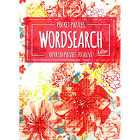 Pocket Puzzles Floral Red Wordsearch Book