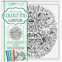 Colouring Canvas: Nature's Masterpieces Book & Markers