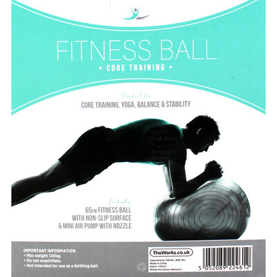 Grey Fitness Ball - 65cm image number 4