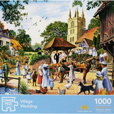 Village Wedding 1000 Piece Jigsaw Puzzle image number 1